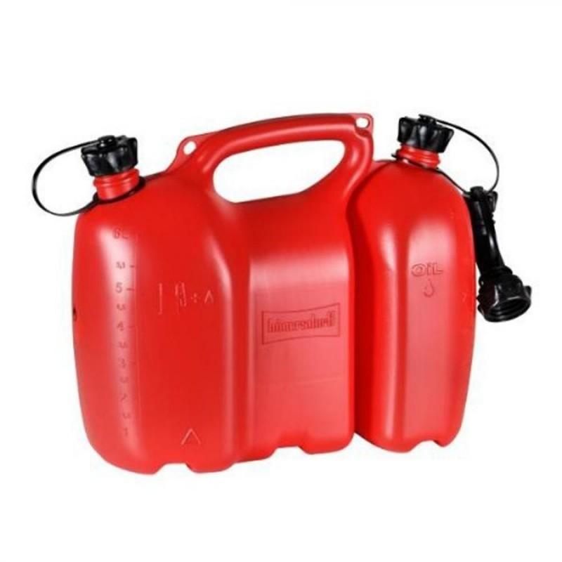 Tanica carburante benzina doppia professionale 6 + 3 litri Huenersdorff 805000 omologata