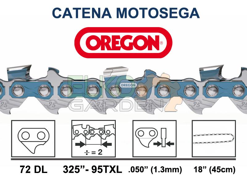 "CATENA MOTOSEGA OREGON SPEEDCUT 72 MAGLIE 325"" 1,3 MM - 95TXL-072E"