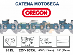 "CATENA MOTOSEGA OREGON SPEEDCUT 80 MAGLIE 325"" 1,3 MM - 95TXL-080E"