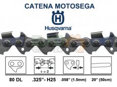 CATENA MOTOSEGA HUSQVARNA H25 80 MAGLIE 0,325 - 1,5MM 50cm 501840480