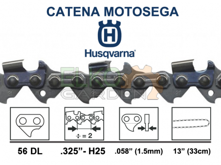 CATENA HUSQVARNA 56 MAGLIE H25 21BP .325 1.5MM 501840456