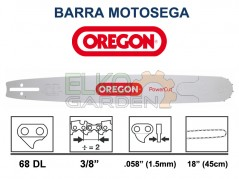 BARRA MOTOSEGA OREGON POWERCUT 45cm 3/8 1,5mm 68E 188RNDD009