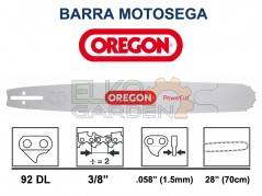 BARRA MOTOSEGA OREGON POWERCUT 70cm 3/8 1,5mm 92 MAGLIE 288RNDD009