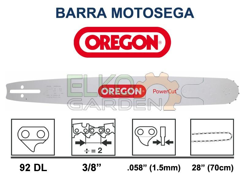 Paso de 28 Pulgadas Oregon 288RNDD009 Barra de combinaci/ón de Potencia de 3//8 Pulgadas Calibre de 0.058 Pulgadas