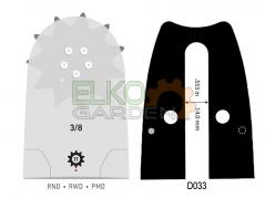 BARRA MOTOSEGA OREGON POWERCUT 50cm 3/8 1,5mm 72E 208RNDD033
