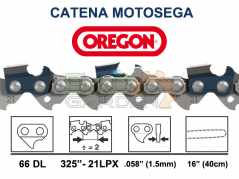 "CATENA MOTOSEGA OREGON 66 MAGLIE 325"" - 1.5MM DENTE QUADRO - 21LPX-066E"
