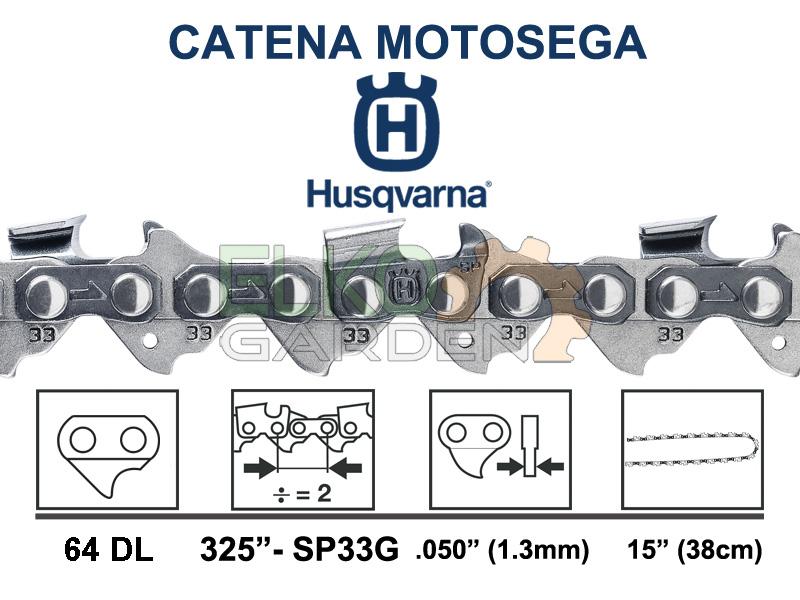 CATENA HUSQVARNA X-CUT SP33G 64 MAGLIE 38cm 325'' 1.3MM