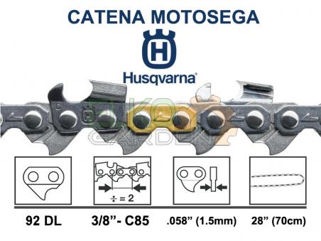 """CATENA MOTOSEGA HUSQVARNA X-CUT C85 92 MAGLIE 3/8"""" 1.5MM - 581626692"""