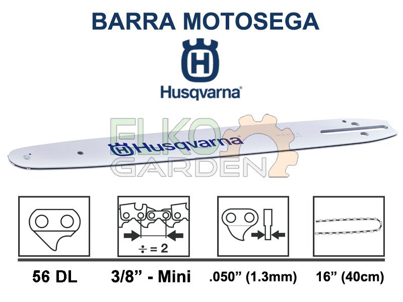 BARRA MOTOSEGA HUSQVARNA 3/8 MINI 40 cm 1.3mm 56E 501959256