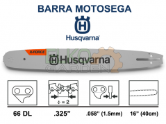 "BARRA MOTOSEGA HUSQVARNA X-FORCE .325"" 40CM 66 MAGLIE 1.5MM 582086966 585943366"
