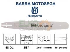 BARRA MOTOSEGA HUSQVARNA X-FORCE PRO 45CM 3/8 1,5 68E ATTACCO PICCOLO 585943468