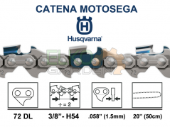 CATENA MOTOSEGA HUSQVARNA 72 MAGLIE H54 73DP 3/8 1.5MM - DENTE MEZZO TONDO - 544078872