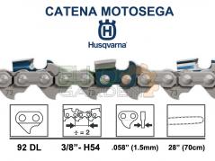 CATENA MOTOSEGA HUSQVARNA 92 MAGLIE H54 73DP 3/8 1.5MM - 544078892 - DENTE MEZZO TONDO