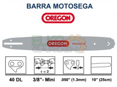 BARRA MOTOSEGA OREGON ADVANCECUT 25CM 3/8 MINI 1.3mm 40E 100SXEA041