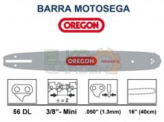 BARRA MOTOSEGA OREGON ADVANCECUT 40CM 3/8 MINI 1.3mm 56E 160SXEA041