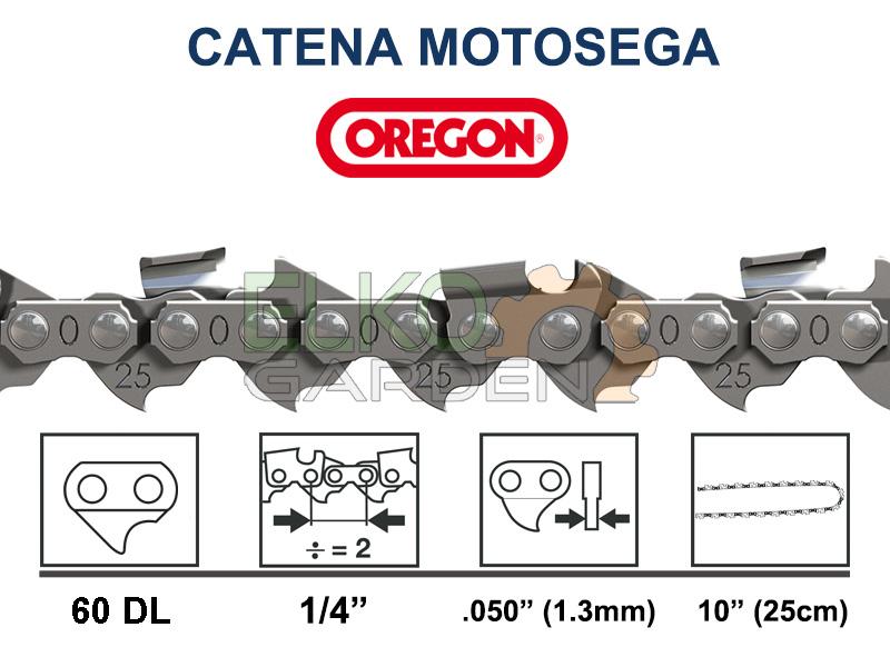 CATENA MOTOSEGA OREGON 60 MAGLIE PASSO 1/4 1,3 MM - 25AP-060E
