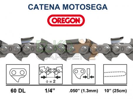 CATENA PER MOTOSEGA 1/4x1,3 25AP OREGON 60E - 25AP-060E