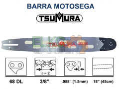 "BARRA TSUMURA LIGHT 45CM 18"" 3/8 68 MAGLIE ATTACCO STANDARD - 406FK41868E"