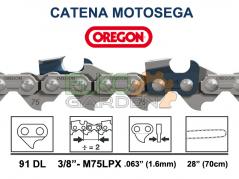 CATENA OREGON MULTICUT 91 MAGLIE 70CM PASSO 3/8 1,6 MM - M75LPX-091E DENTE QUADRO