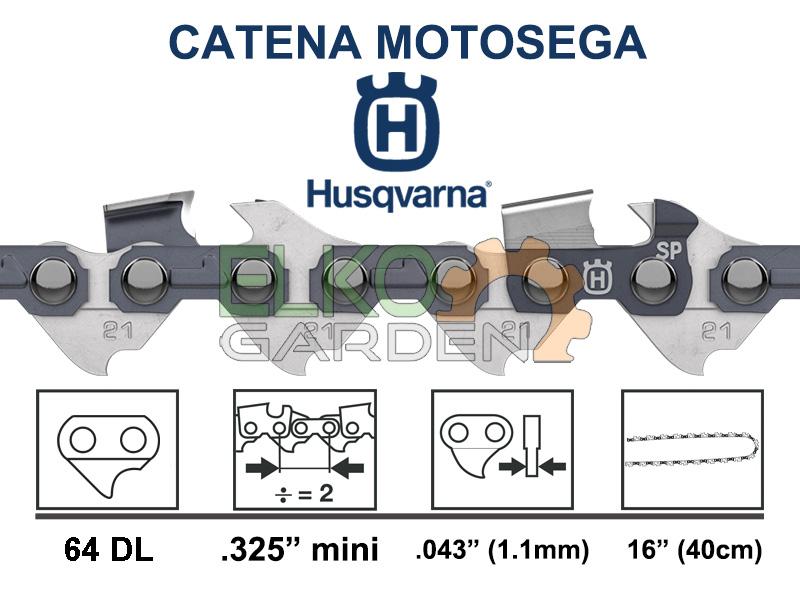CATENA MOTOSEGA HUSQVARNA X-CUT SP21G 64 MAGLIE 40Cm 325'' 1.1MM 593914164