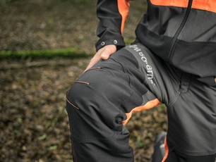 Reinforced front of the trousers
