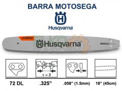 "BARRA MOTOSEGA HUSQVARNA X-FORCE .325"" 45CM 72 MAGLIE 1.5MM 582086972"