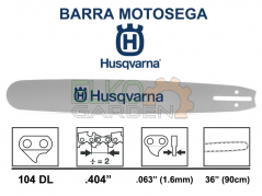 """BARRA MOTOSEGA HUSQVARNA PASSO .404"""" 90CM 1.6MM 501958104 - FORGIATA CON ATTACCO GRANDE"""